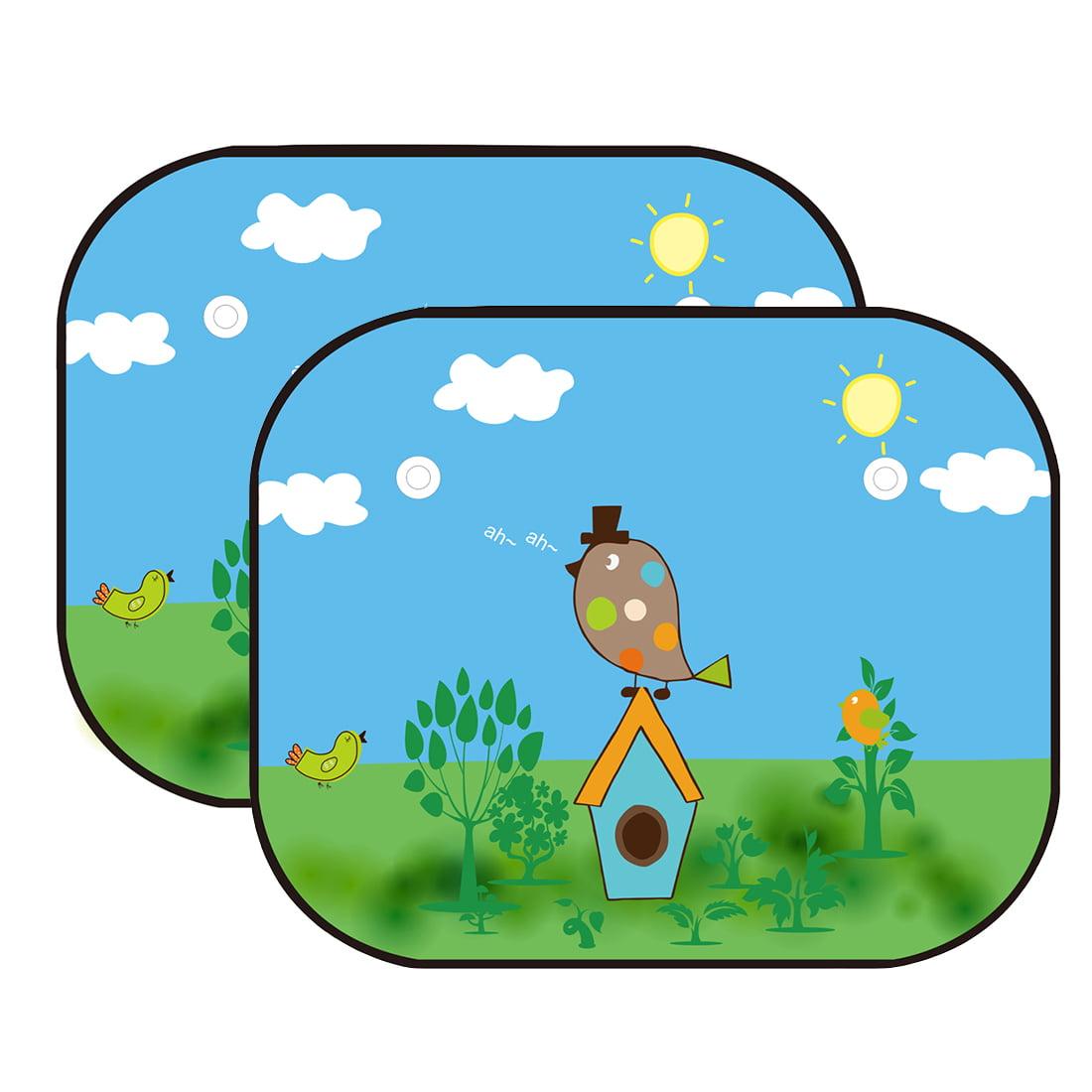 Cartoon Baby Car Side Window Sun Shade Visor 2 Packs Mesh Auto Pyle Plam40 4gauge Amplifier Installation Kit Walmartcom Sunshade Protector Block Harmful Uv Rays