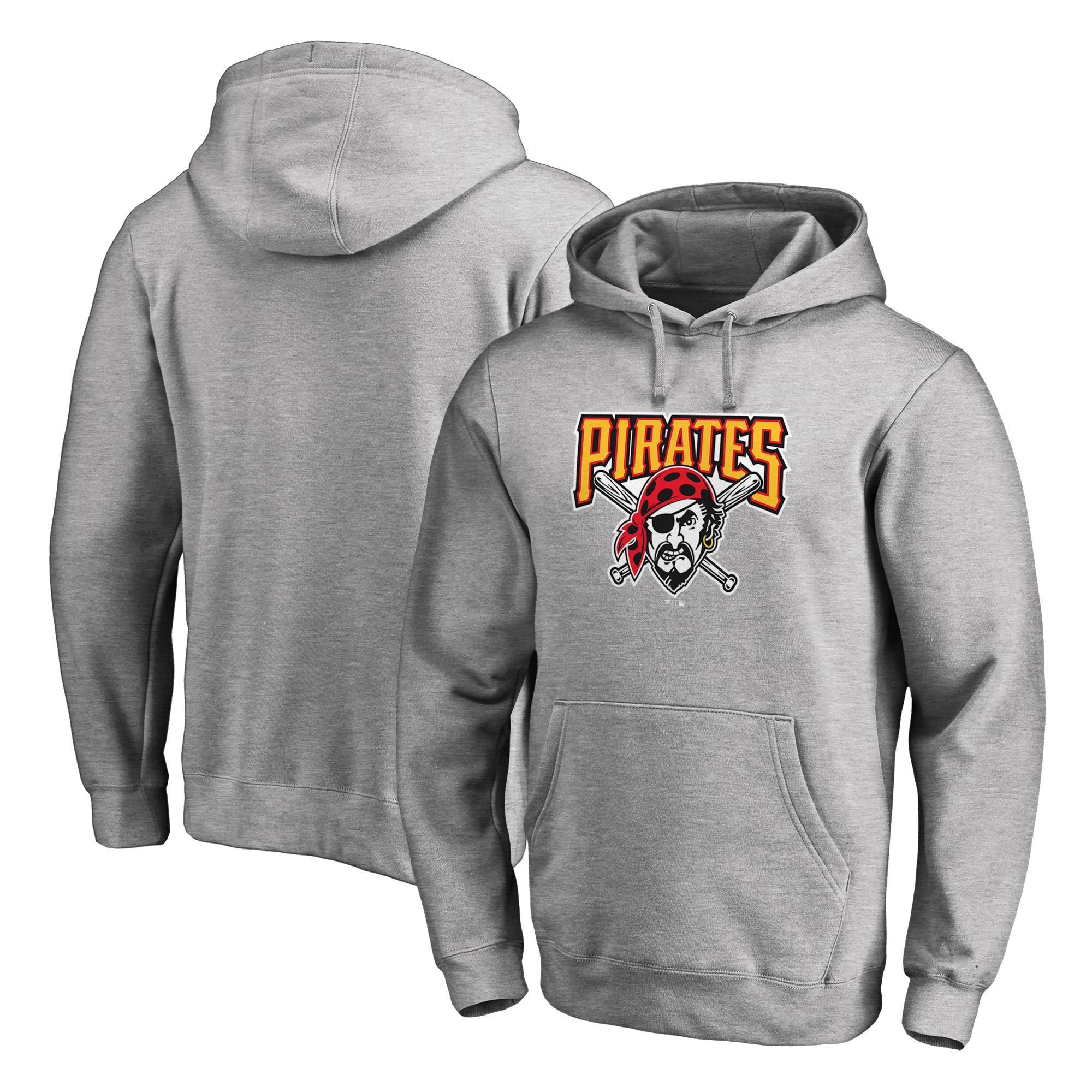 Pittsburgh Pirates Fanatics Branded Cooperstown Collection Huntington Pullover Hoodie - Heathered Gray