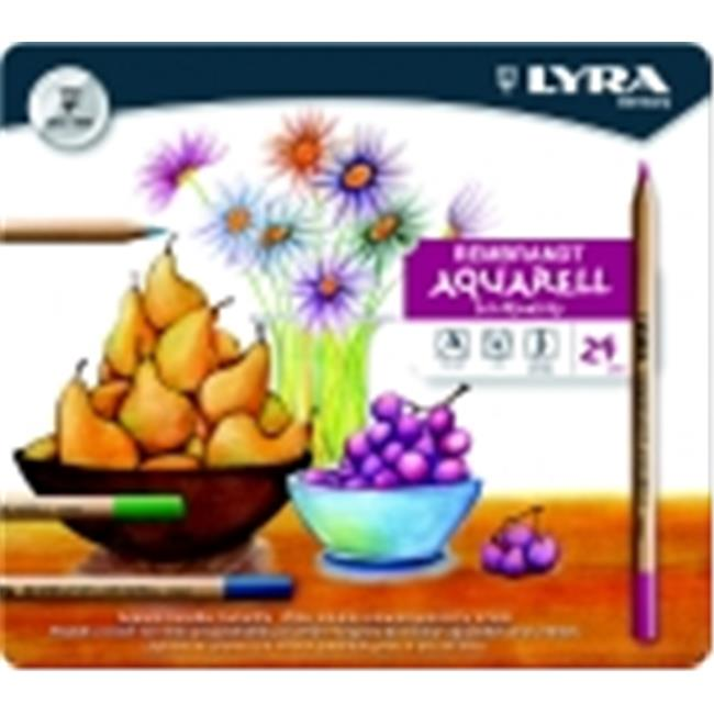 Lyra Rembrandt Aquarelle Non-Toxic Colored Pencil, Assorted Color, Pack 24