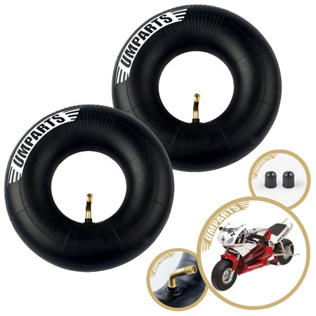 """3.00-4, 10""""x3"""", 260x85mm, Honda Minimoto Sport Racer Front / Rear Wheel Tire Inner Tube innertube Replacement (Set of 2)"""