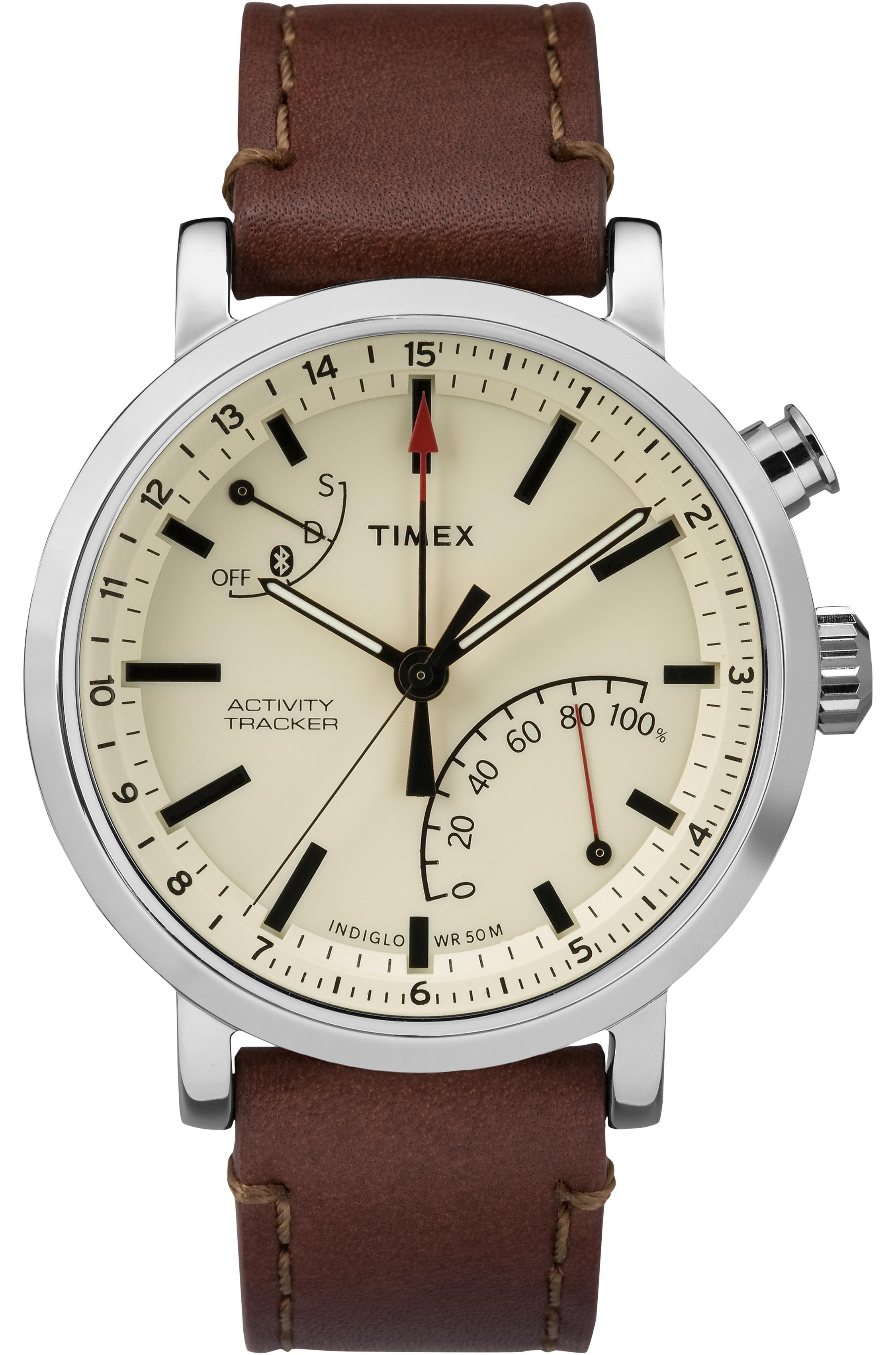 Timex Unisex Metropolitan+ Brown/Silver-Tone/Tan Watch, Leather Strap