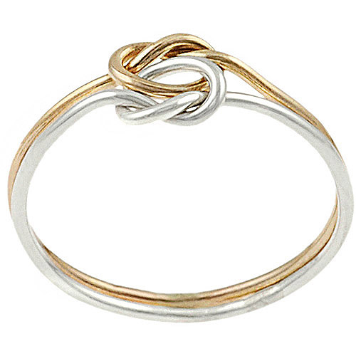 Brinley Co. Knotted 2-Piece Ring in Gold Fill and Sterling Silver