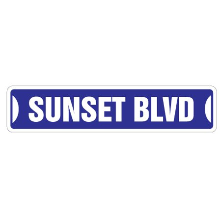 SUNSET BLVD Street Sign los angeles california Hollywood LA | Indoor/Outdoor |  18