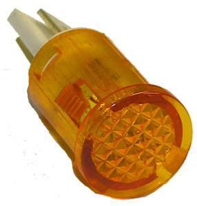 Round Indicator Pilot Lamp Amber 250VAC - 10Pk.