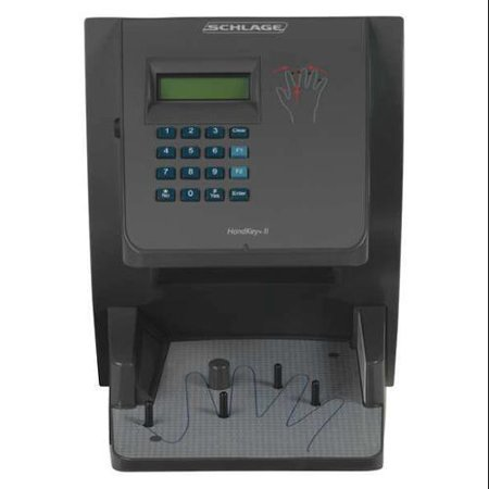 SCHLAGE ELECTRONICS HK-2-F3 BiometricHandReader, Black Paint,512Users G0414255