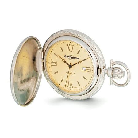 13cce34c8 Swingtime - Rose & Chrome-finish Quartz Pocket Watch XWA2784 - Walmart.com