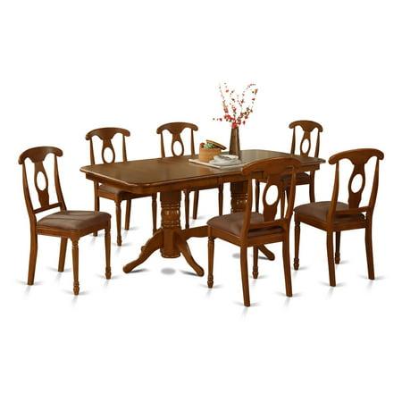East West Furniture Kenley 7 Piece Rectangular Trestle Dining Table Set
