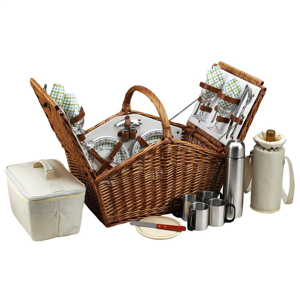 Huntsman Gazebo Picnic Basket for Four with Coffee Set