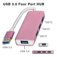 4 in 1 USB 3.0 Four Port HUB Adapter for Mac & Windows - Rose Gold