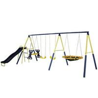 Deals on Sportspower Super Star Swing and Slide Set MS-1001