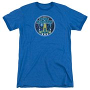 Atari Badge Mens Adult Heather Ringer Shirt
