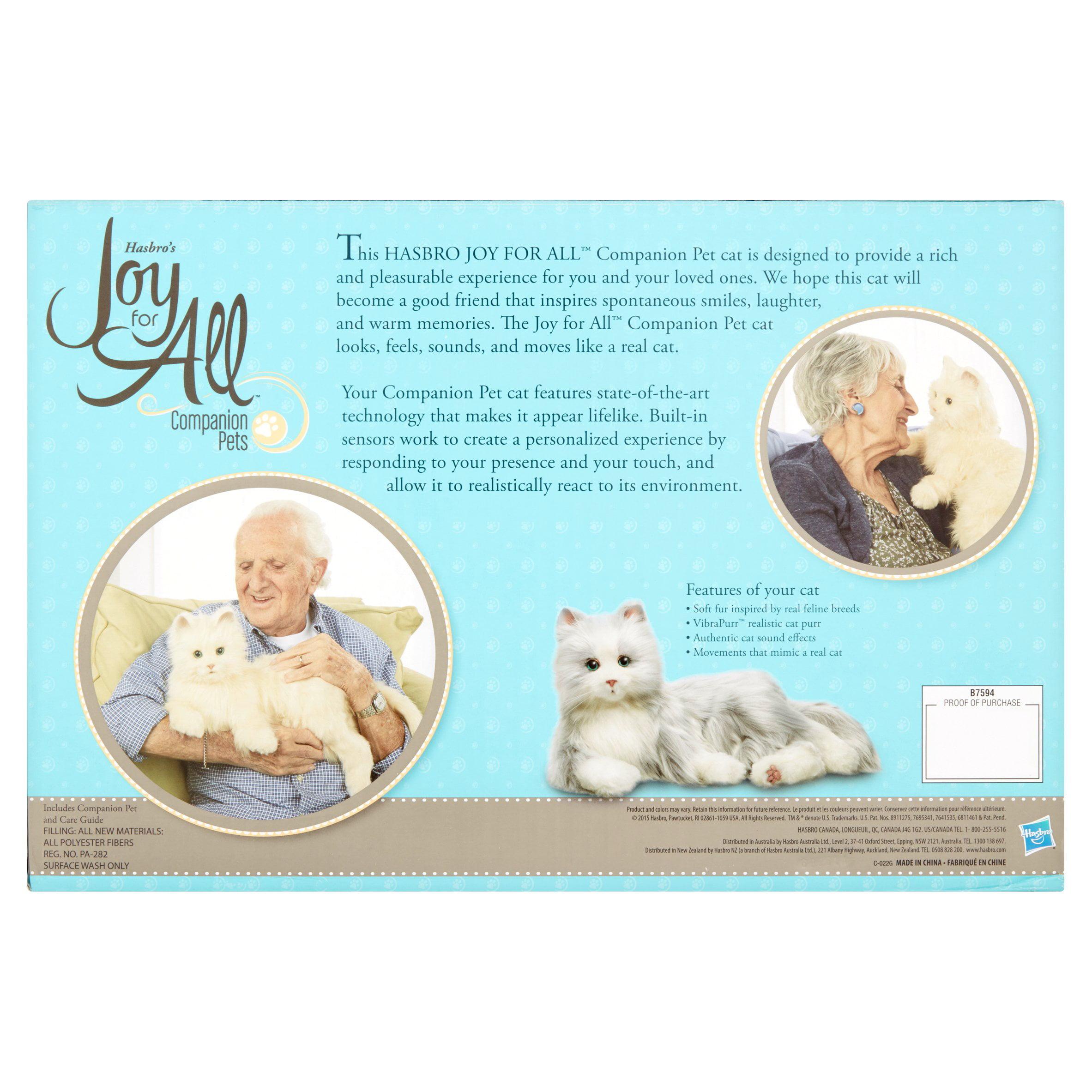(Price/each)Hasbro Joy For All Plush Cat-Silver