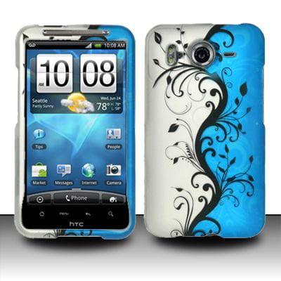 Design Rubberized Hard Case for HTC Inspire 4G - Blue