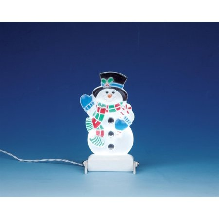 Snowman Christmas Yard (Christmas Village Battery Operated Snowman Yard Light Accessory #04242, Lemax Village Collection By Lemax Ship from)