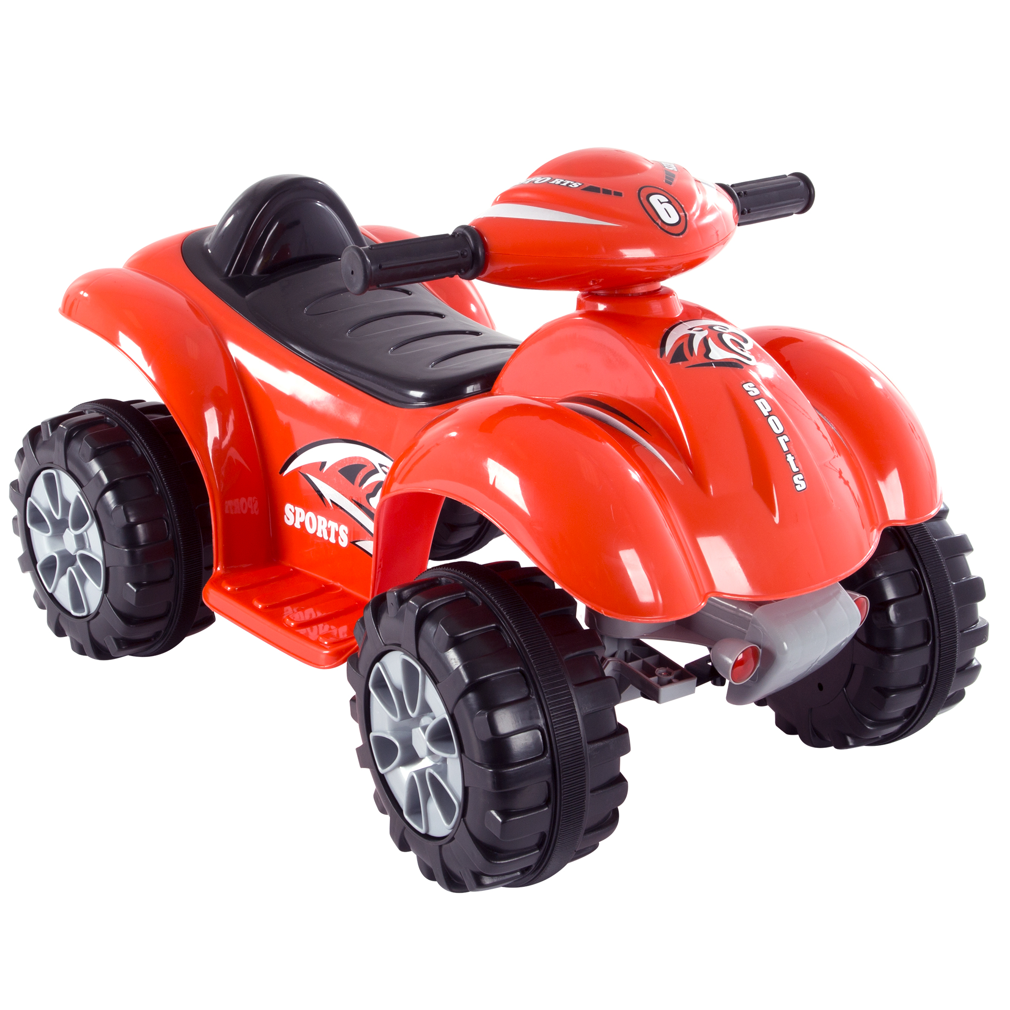 Ride On Toy Quad, Battery Powered Ride On ATV Dinosaur Four Wheeler With Sound Effects by Hey! Play! – Toys for Boys and Girls 2 - 4 Year Olds (Red)