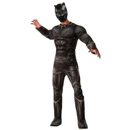 Marvel's Captain America: Civil War Deluxe Mens Black Panther Costume - Captain America Costume Mens
