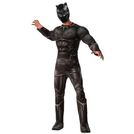 Marvel's Captain America: Civil War Deluxe Mens Black Panther Costume](Captain America Men Costume)