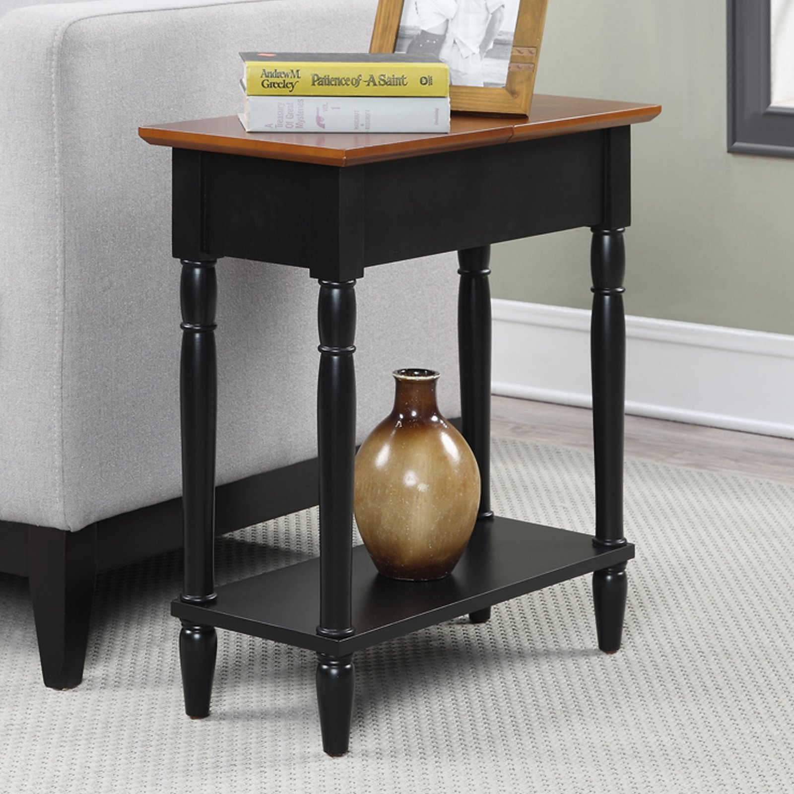 Convenience Concepts French Country Flip-Top End Table
