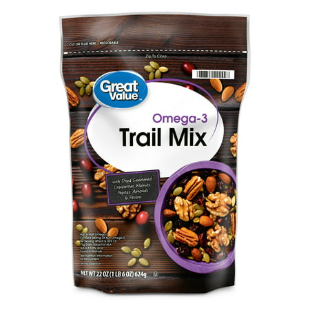 Great Value Omega3 Trail Mix, 22 Oz (Best Nuts For Omega 3)