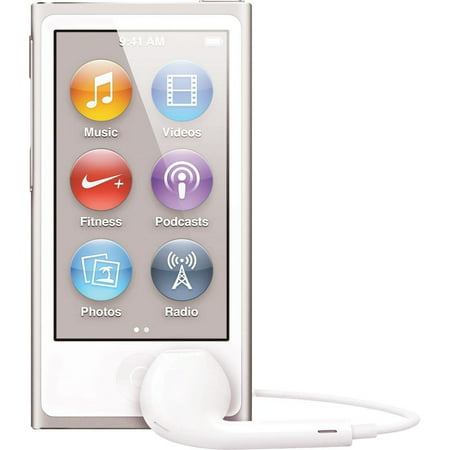 Apple iPod Nano 7th Generation 16GB Silver, (Latest Model) New in Plain White Box (Old Ipod Nano Design)