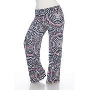 Women's Plus Size Multicolor Geometric Palazzo Pants