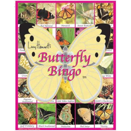 LH3677 Butterfly Bingo, For 2-6 Players By Lucy Hammet Bingo Games - Bingo Bags For Sale