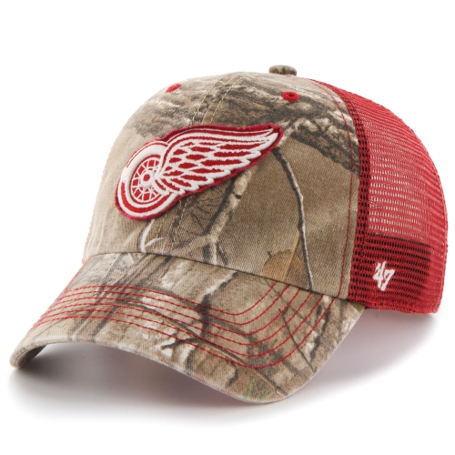 Detroit Red Wings '47 Huntsman Closer Flex Hat - Realtree Camo