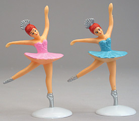 2ct Ballerina Large Cake Adornments (5 inches)