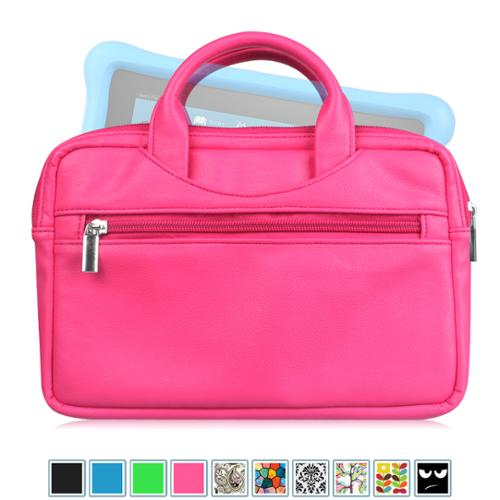 Fintie Universal 6 - 8 Inch Tablet Sleeve Travel Carrying Case Bag for Fire HD 6 / HD 7/ HD 8/ HDX 7 / Fire 7, Magenta