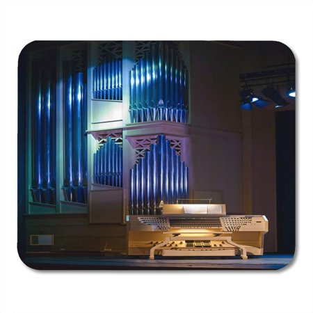 LADDKE Pipe Silver Church Organ Authentic Music Instrument Without Organist Mousepad Mouse Pad Mouse Mat 9x10 inch - Halloween Pipe Organ Music Mp3