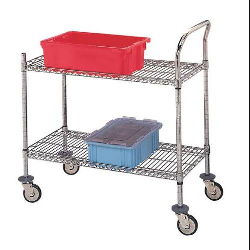 U2-1836C-RP Wire Shelving Cart, 500 lb., 40 In.H