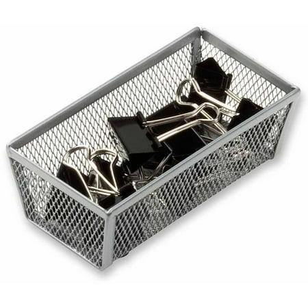 Honey Can Do 6 x 3 Inch Steel Mesh Drawer Organizer, Silver - Mesh Drawer Organizer