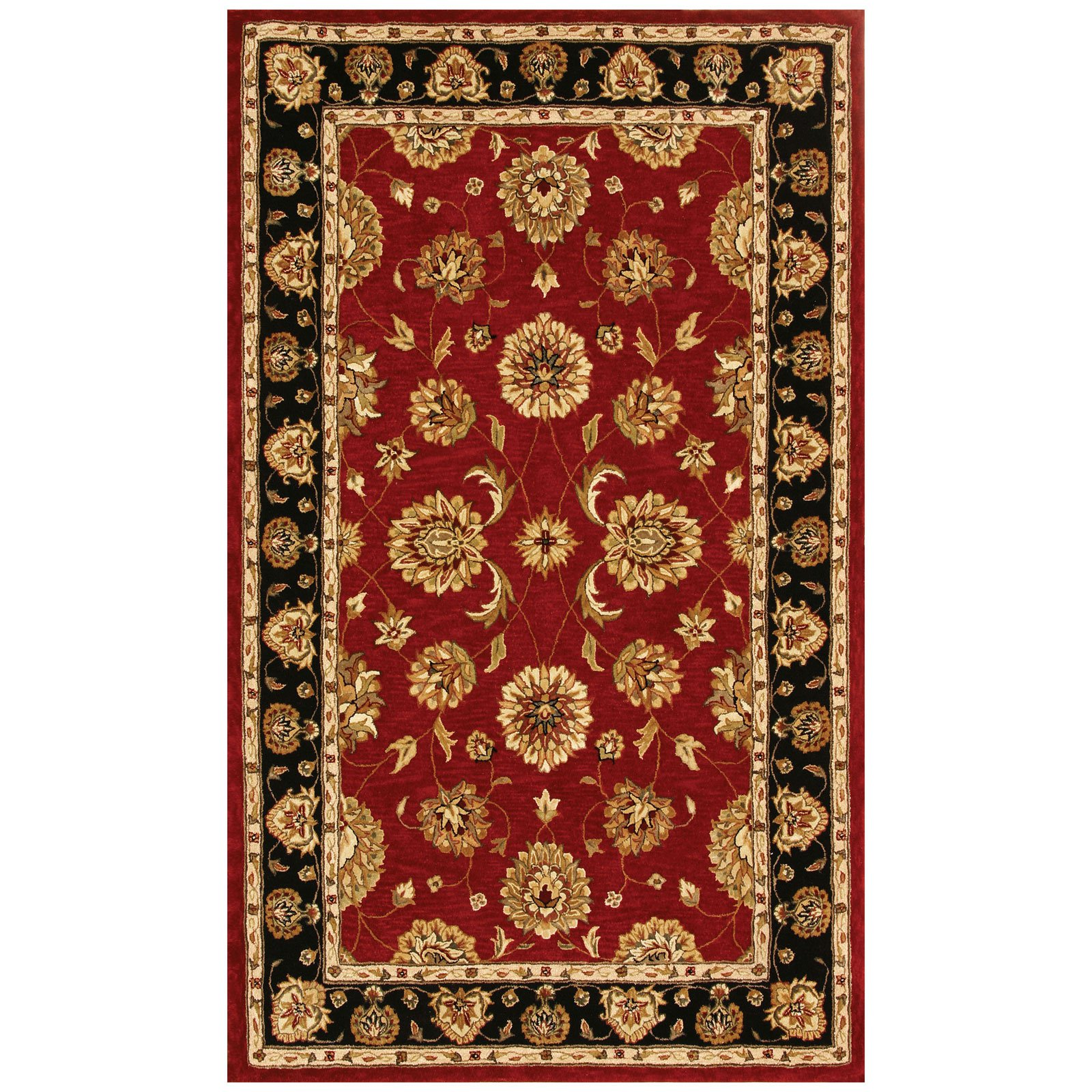 Dynamic Rugs Jewel 70230 Pom Persian Rug - Red/Black-4 x 6 ft.