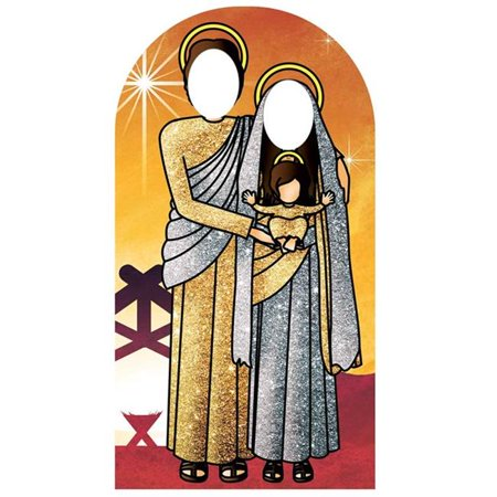 - Star Cutouts SC1111 Sunset Gold & Silver Sacred Family Stand-In