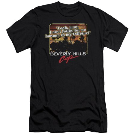 Beverly Hills Cop Banana In My Tailpipe Mens Slim Fit Shirt