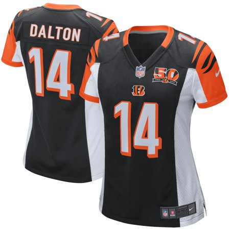 Andy Dalton Cincinnati Bengals Nike Women's 50th Anniversary Patch Game Jersey - (Cincinnati Bengals Football Jersey)