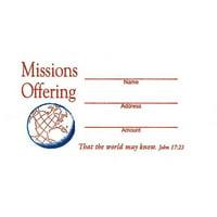 Offering Envelope-Missions Offering (John 17:23) (No. 3 Size) (Pack Of 100)