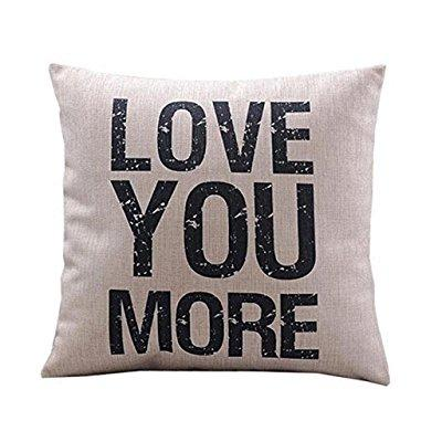 couch 18 inch cushion covers gohome quote words love you more square decorative cotton linen cushion cover throw pillowcase shell cover