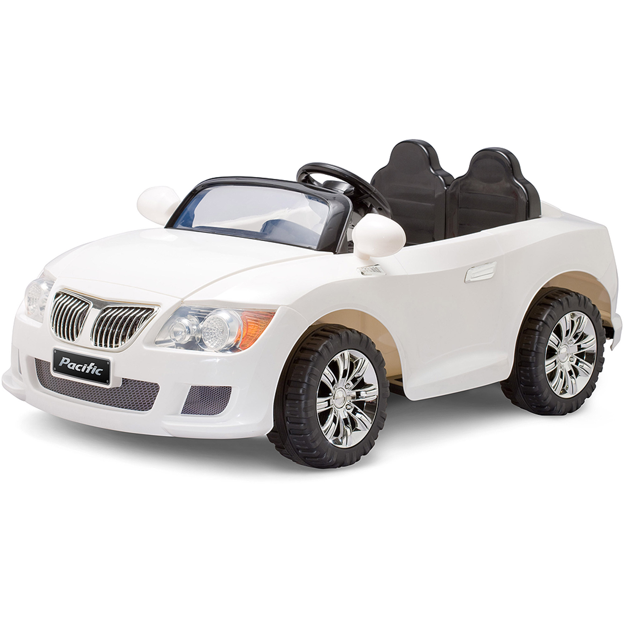 Pacific Cycle 12-Volt Battery-Powered Convertible Sports Car, White