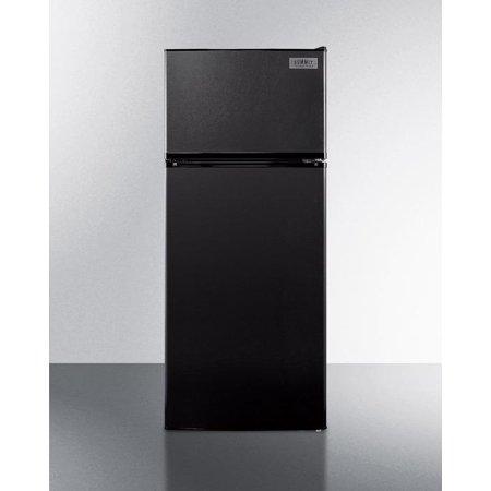 FF1119B 24 Top-Freezer Refrigerator with 10.3 Cu. Ft. Capacity  Frost Free Operation  Interior Light  Full Freezer Shelf  Clear Crisper Drawer  Adjustable Shelves  and ADA Compliant Design: Black