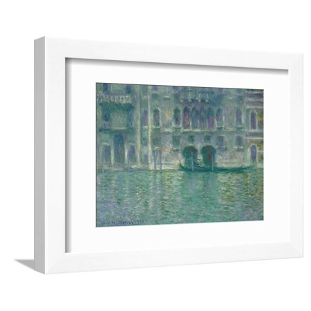 Palazzo Da Mula, Venice, 1908 Fine Art Impressionist Canal Painting Framed Print Wall Art By Claude Monet