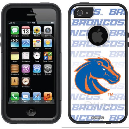 Boise State Cell Phone (Boise State Repeating White Blue Design on OtterBox Commuter Series Case for Apple iPhone 5/5s )
