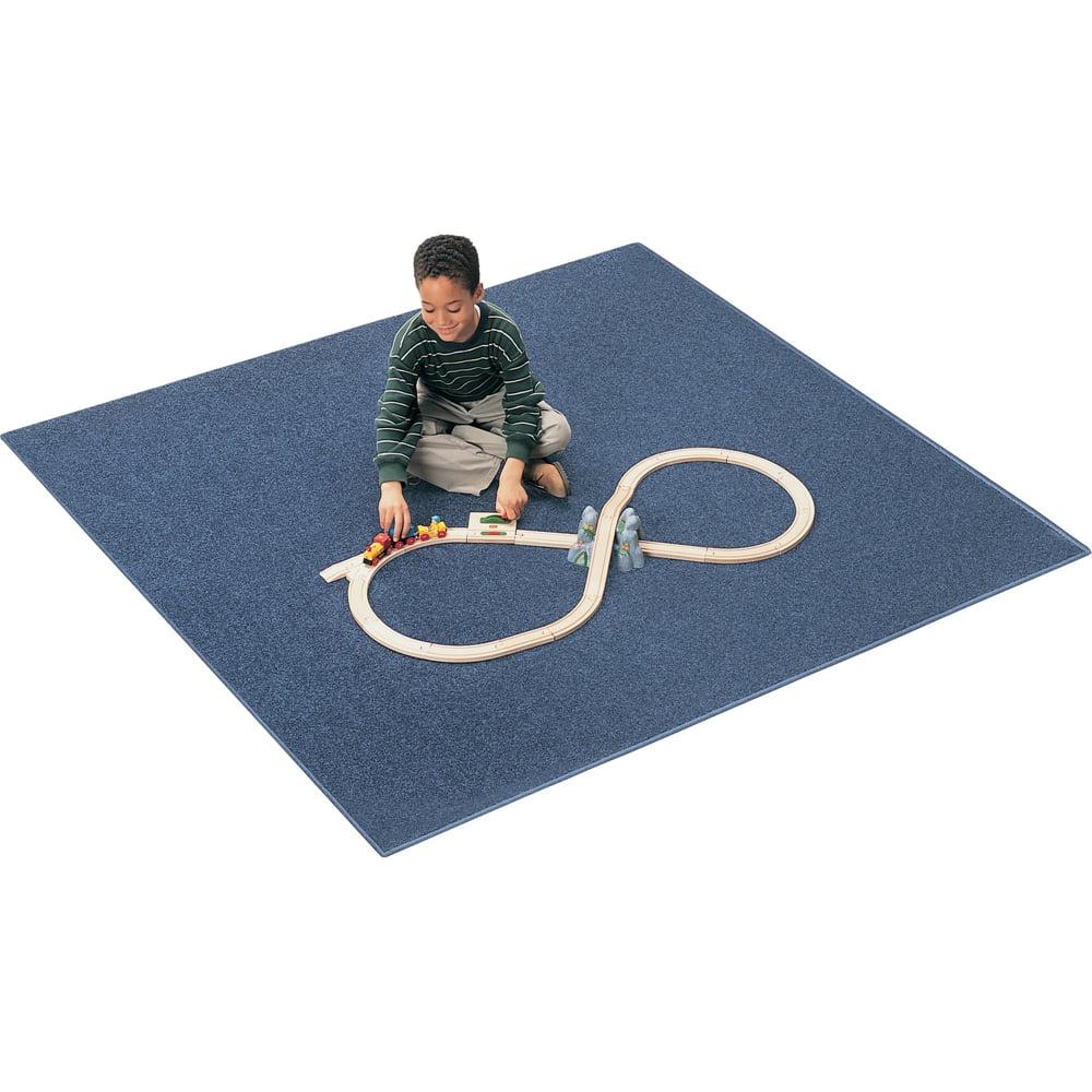 Carpets for Kids  Mt. St. Helen Rug,Anti-Static,30oz,6'x9',Oval,Marine Blue
