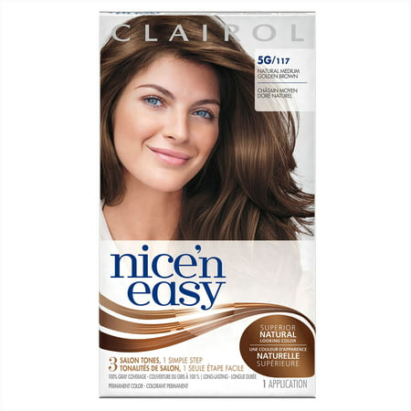 Clairol nice n easy permanent hair color 5g117 natural medium clairol nice n easy permanent hair color 5g117 natural medium golden brown 1 kit walmart solutioingenieria Images