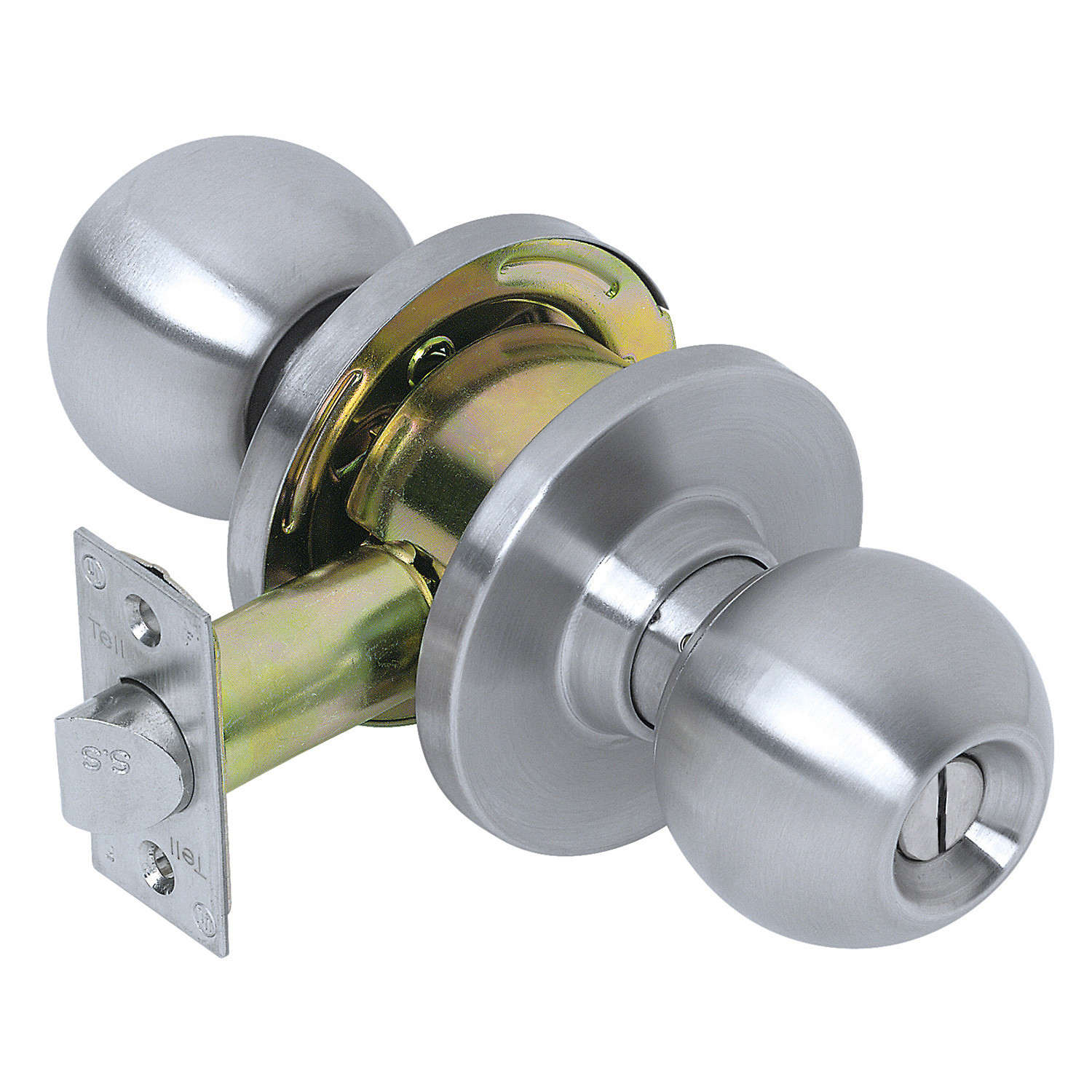 Tell Manufacturing CL100004 Satin Stainless Steel Heavy-Duty Commercial Privacy Knob