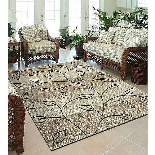 Lovely Orian Stonebrook/ Area Indoor/Outdoor Rug, Driftwood