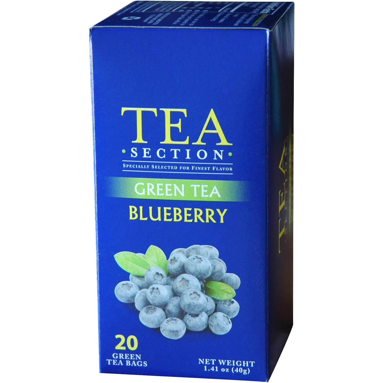 Tea Section Blueberry Green Tea Bags, 20 count, 1.41 oz