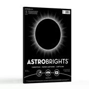 Astrobrights Colored Cardstock, Eclipse Black, 50 Sheets