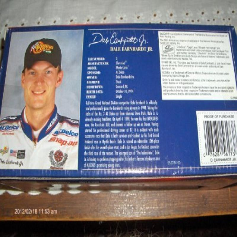 Dale Earnhardt Jr. 1998 AC Delco NASCAR 50th Anniversary ...