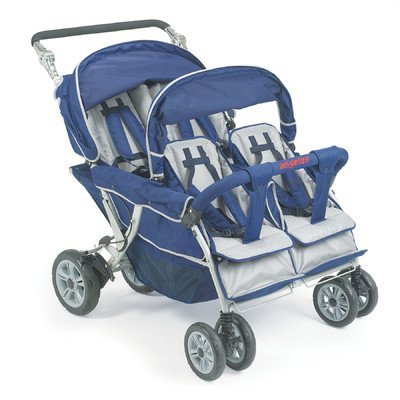 Angeles Group 4 PASSENGER SURESTOP FOLDING COMMERCIAL BYE-BYE STROLLER